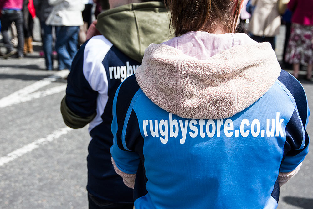 rugbystore supporting the Olympic Torch Relay