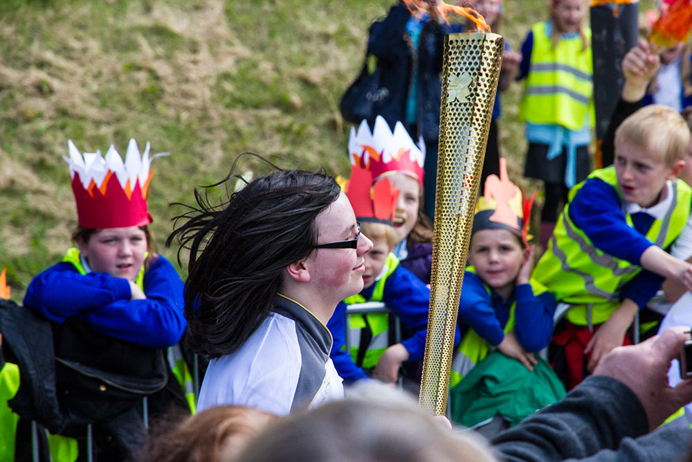 Olympic Torch Relay runner
