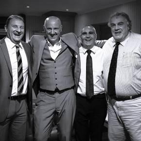 Our MD - Fraser Patterson, Speaker - Sandy Strang, Owner - Kenny Oliver, Legend - Iain Milne