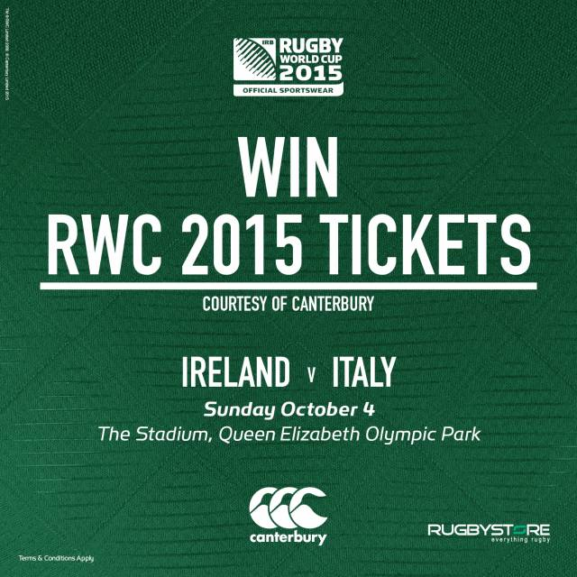 Ireland v Italy win tickets
