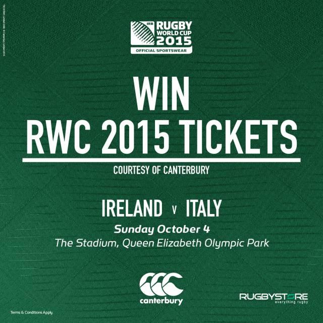 Ireland v Italy win tickets