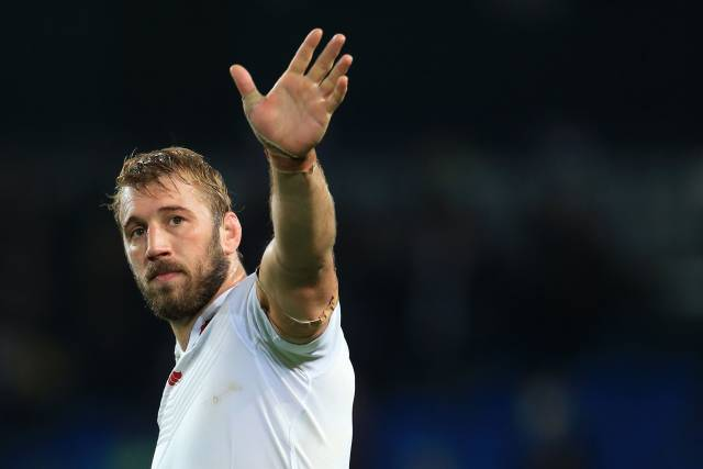 10th October 2015 - Rugby World Cup (Pool A) - England v Uruguay - Chris Robshaw of England waves farewell after the match