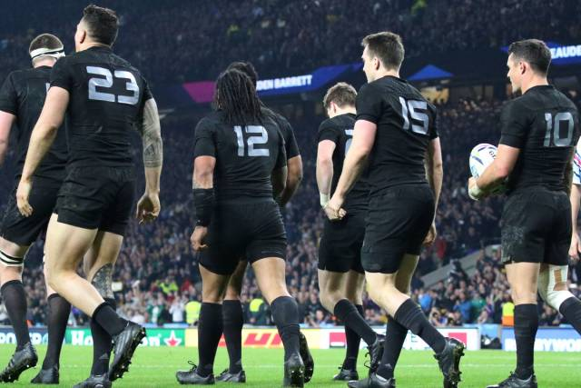The All Blacks at the Rugby World Cup Final