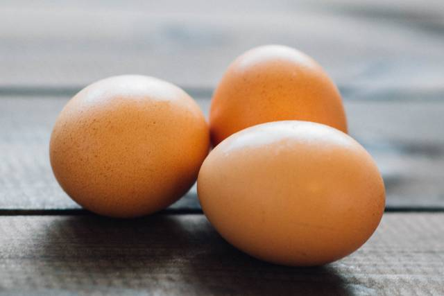 Protein can be found in eggs
