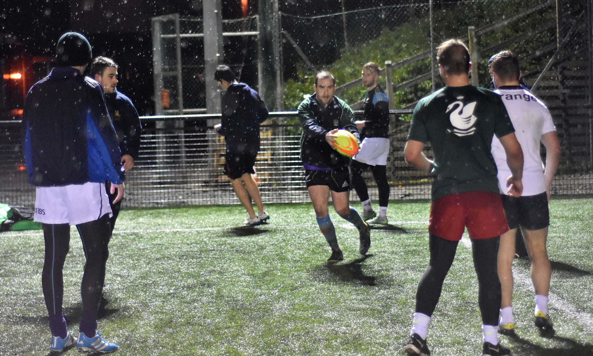 Wet conditions can make training a real challenge.