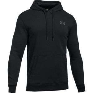 Mens Black Under Armour Storm Rival Pullover Hoodie