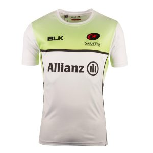 2018 Mens White Saracens Coaches Training Tee Shirt