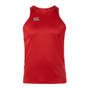 Mens Tango Red Canterbury Essentials Poly Singlet