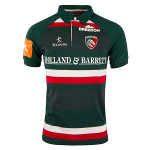 2018 Mens Leicester Tigers Classic Home Rugby Shirt