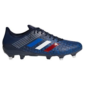 Mens Collegiate Navy adidas Tricolore Pack Predator Malice Control Soft Ground Rugby Boots